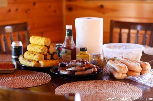 bratwurst dinner