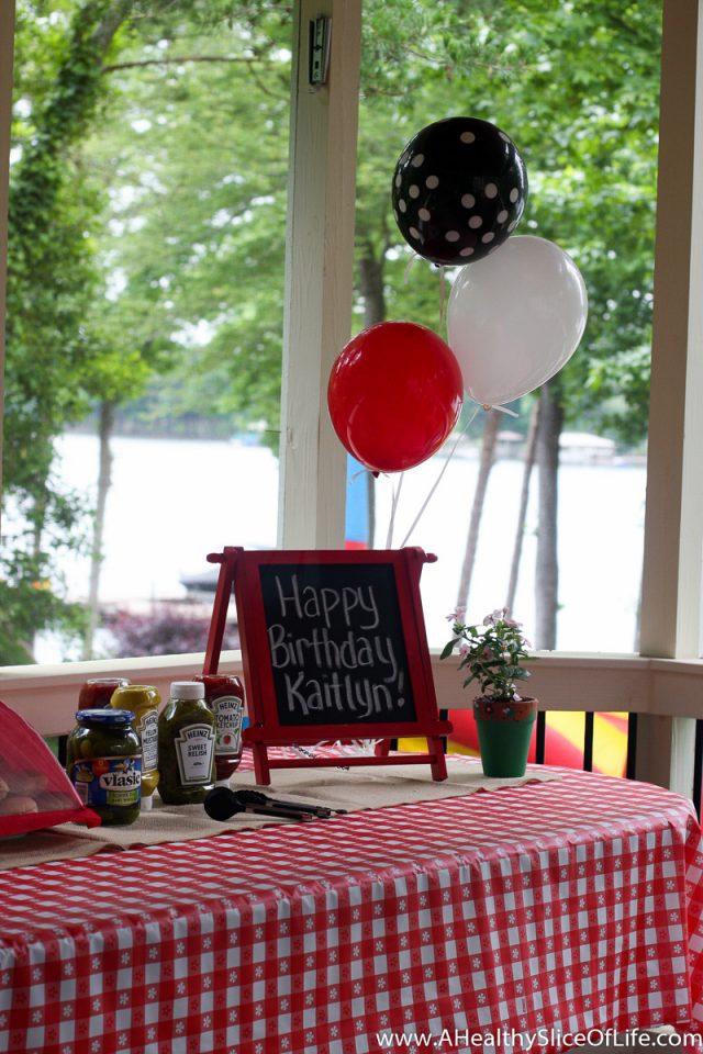 backyard cookout birthday chalkboard