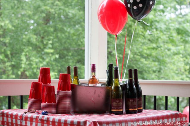 cookout wine table