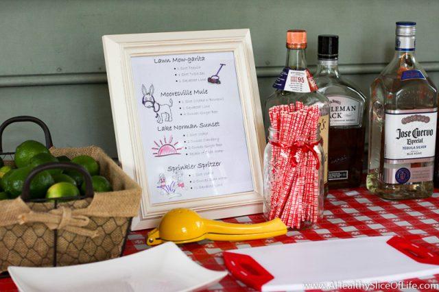 summer cookout drink menu