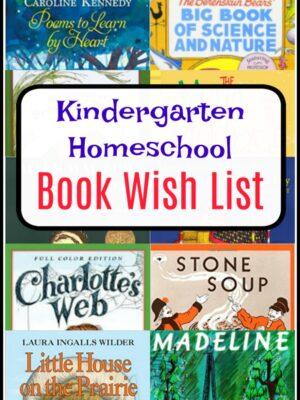 kindergarten homeschool book list