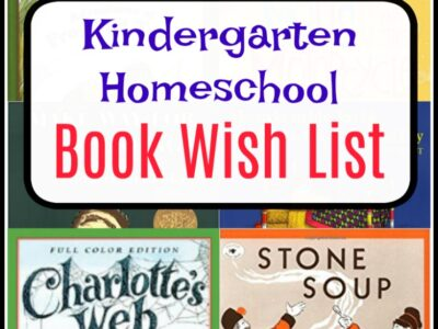 kindergarten homeschool book list