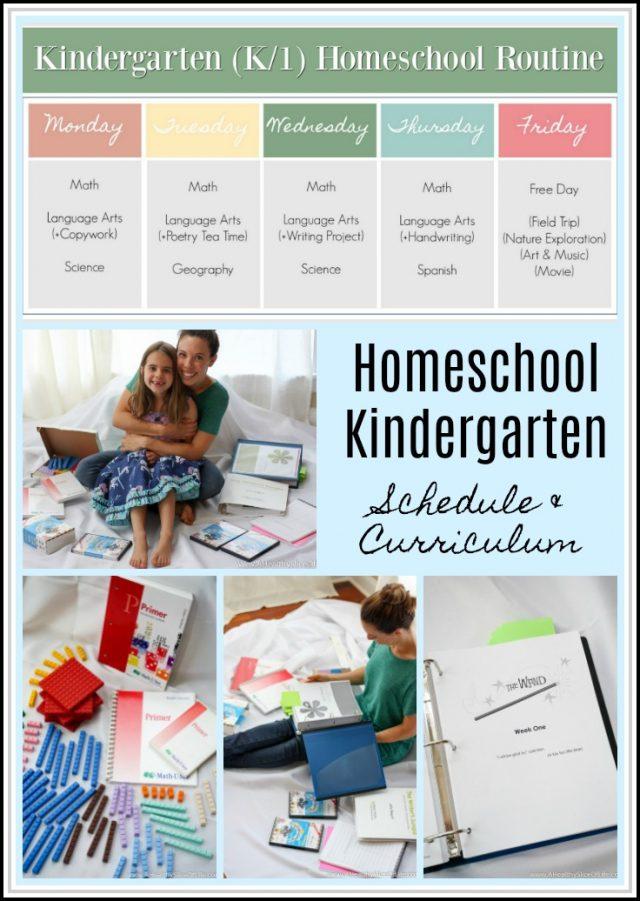 kindergarten homeschool schedule and curriculum