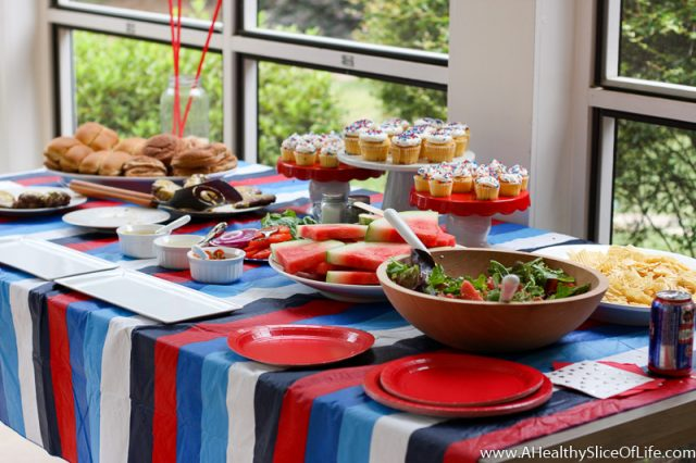 july 4th food spread