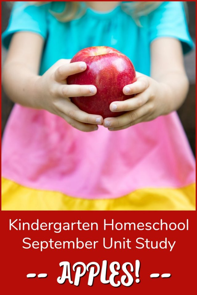 Kindergarten Homeschool Apple Unit Study