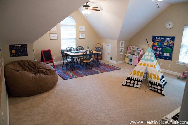 homeschool kindergarten room design
