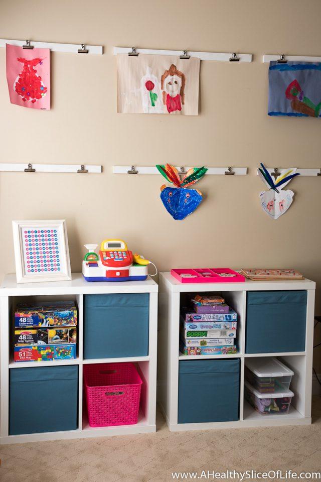 homeschool kindergarten storage