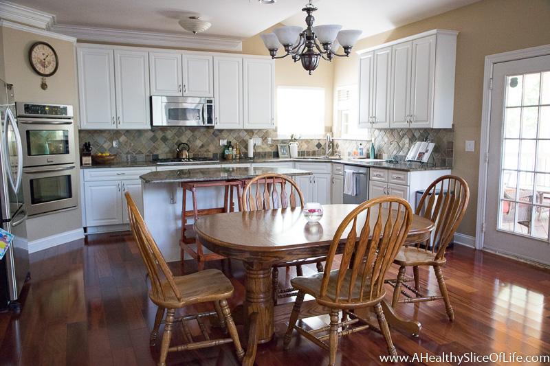 reorganized kitchen