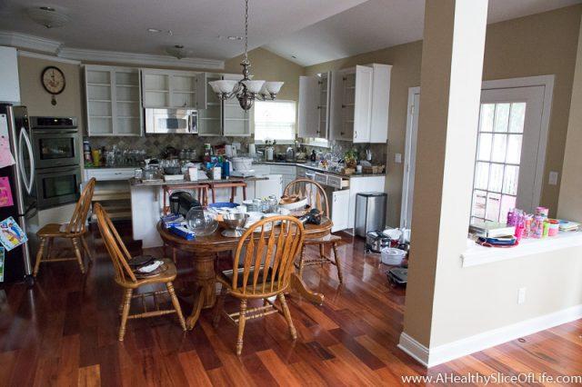 during a kitchen reorganization