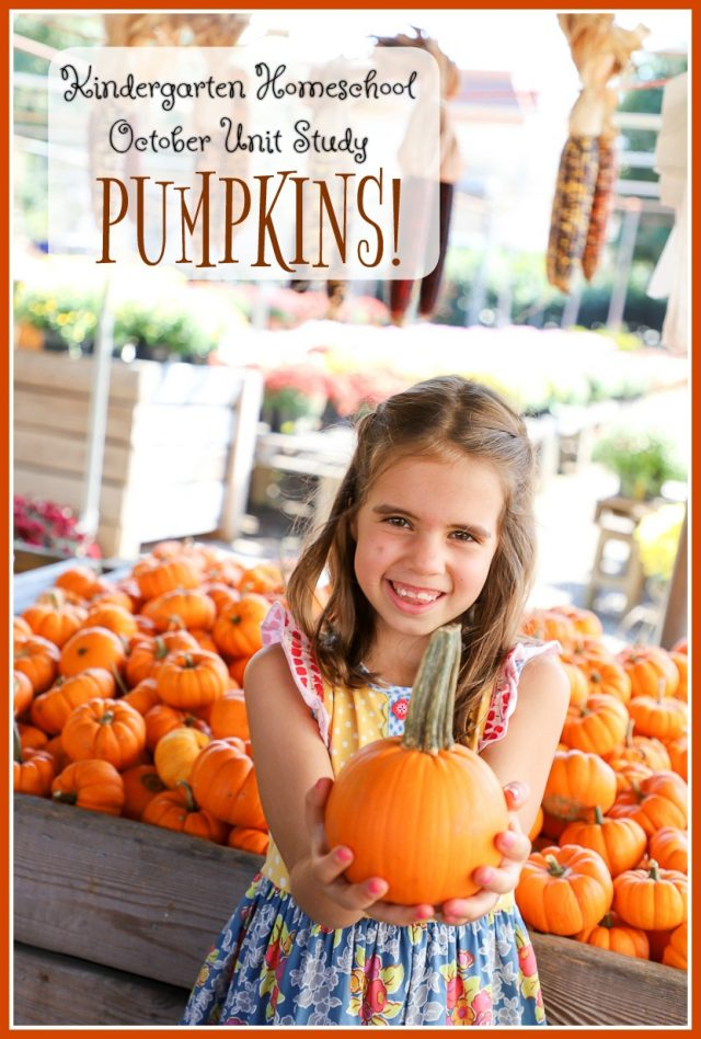 kindergarten homeschool october unit study