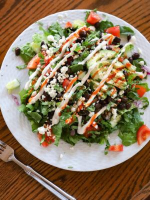 black bean spicy salad