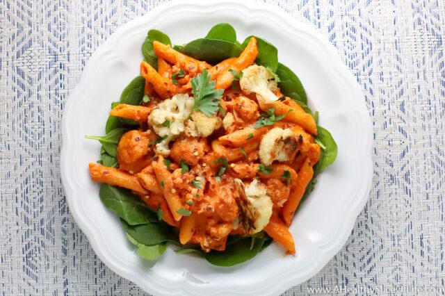 red pepper cashew pasta