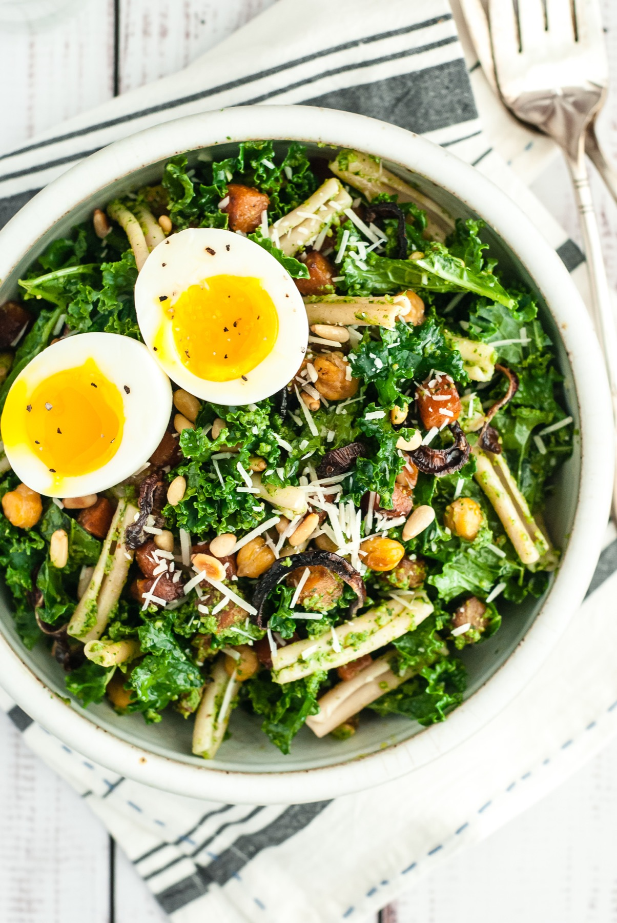 Kale Salad with Butternut Squash and Chickpeas