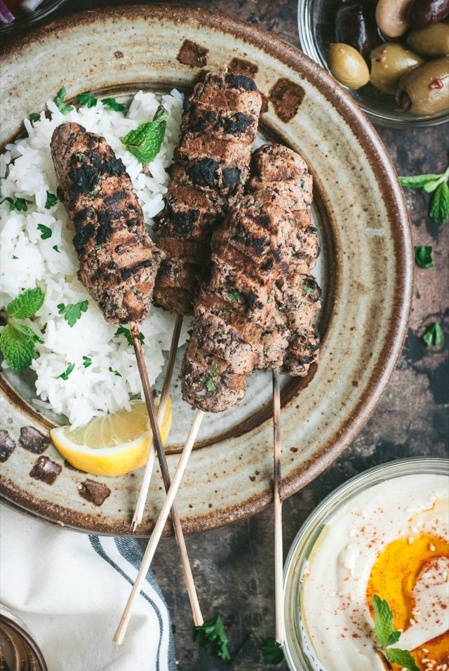 Vegan Kofta and Lemon-Tahini Sauce