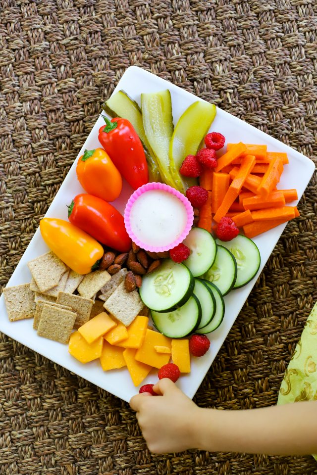 kid friendly snack plate