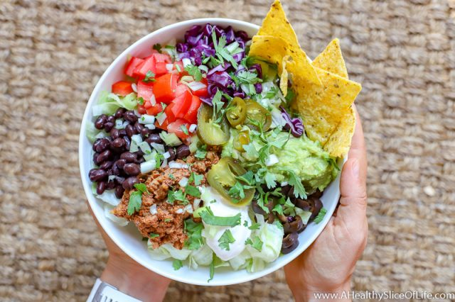 vegan taco meat salad