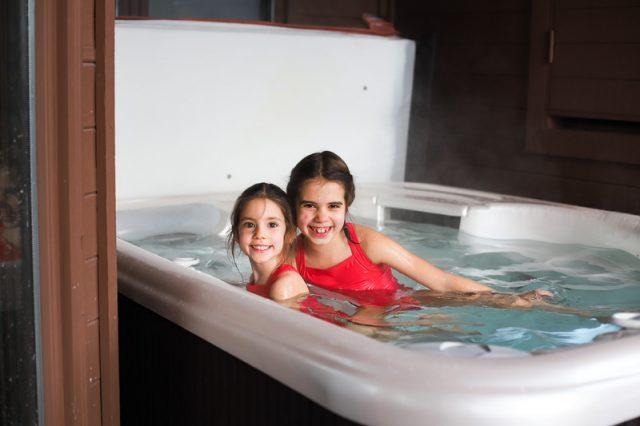 deer valley family ski trip hot tub condo