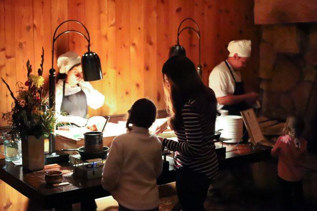 deer valley family ski trip fireside dining