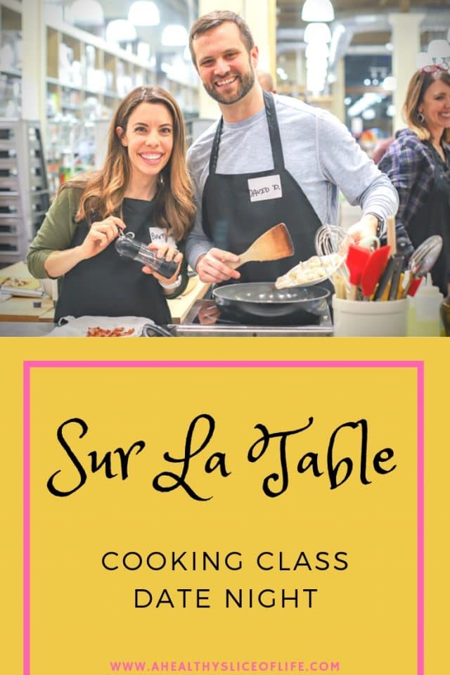 Sur La Table cooking class date night