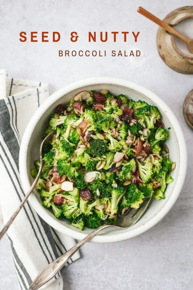Seed and Nutty Broccoli Salad
