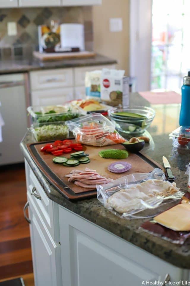 wrap making buffet