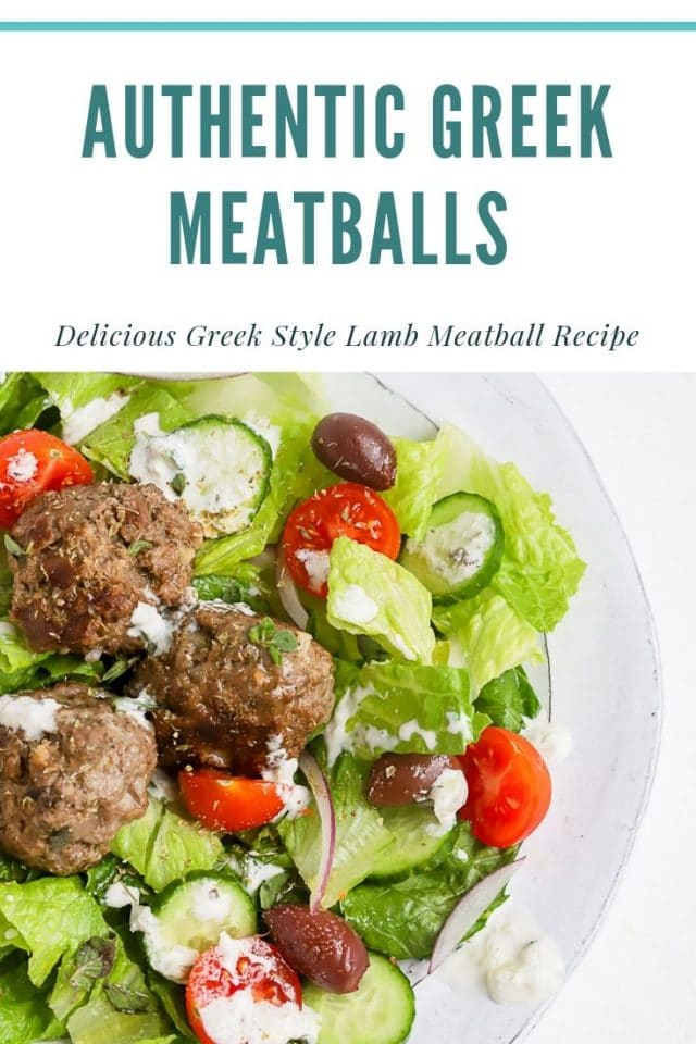 greek lamb meatball