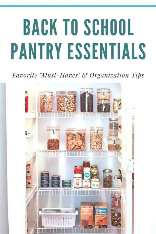 pantry organization and favorites