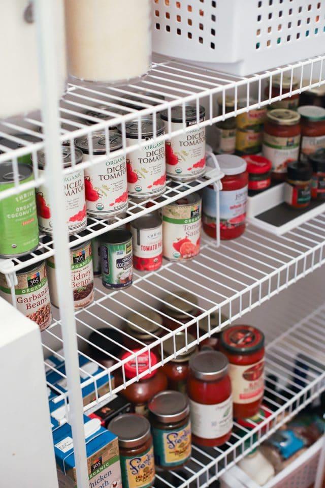 stocking a pantry