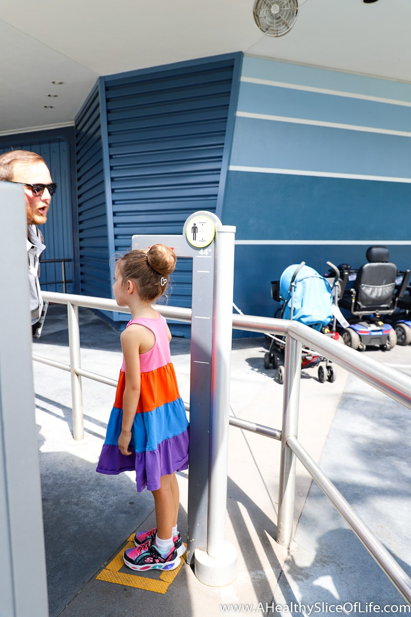 five year old height check Space Mountain