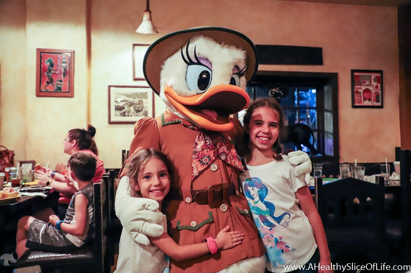 Daisy Duck at The Tusker House Dinner