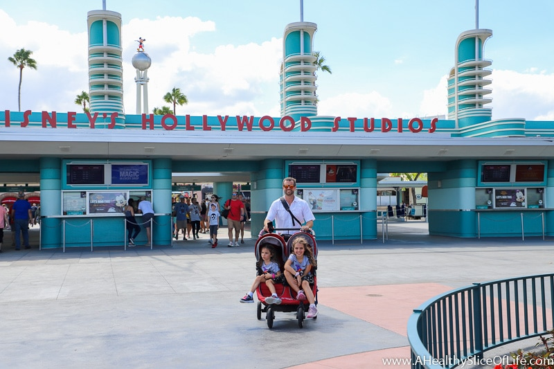 Hollywood Studios with stroller
