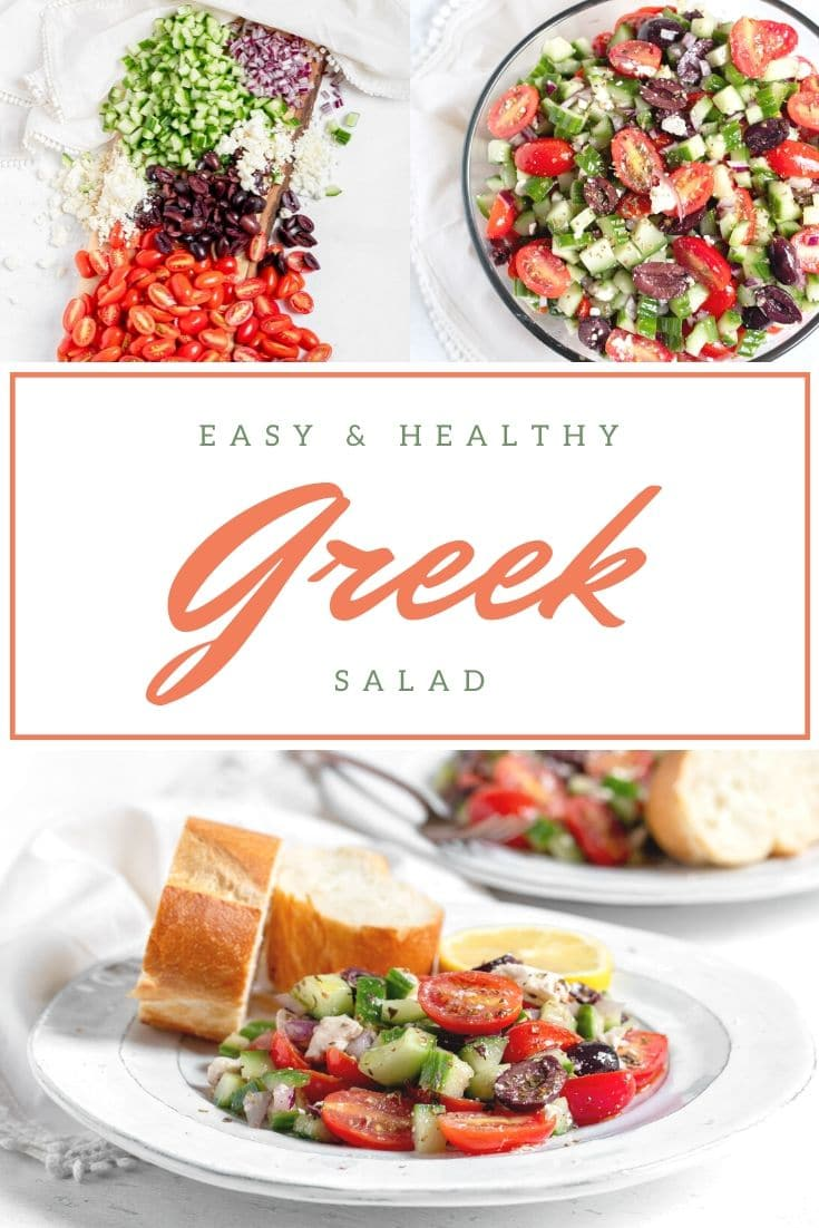 Greek salad collage