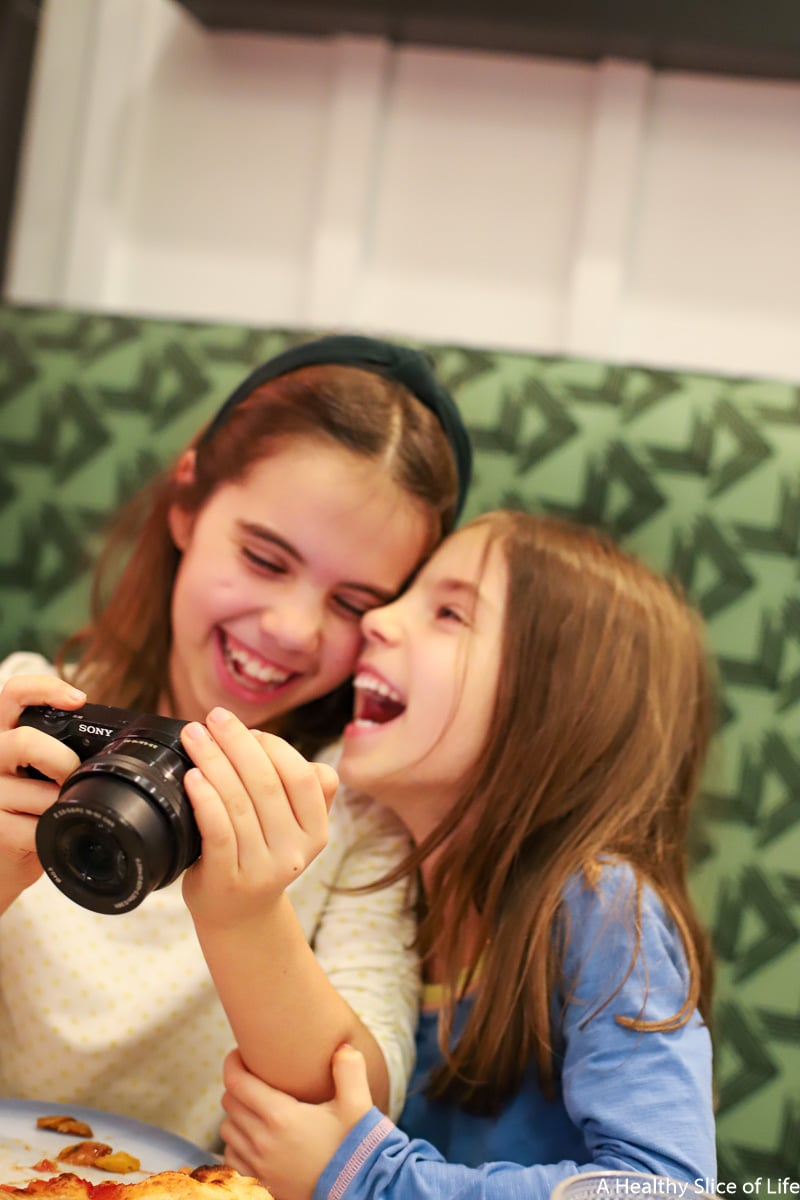 sisters laughing