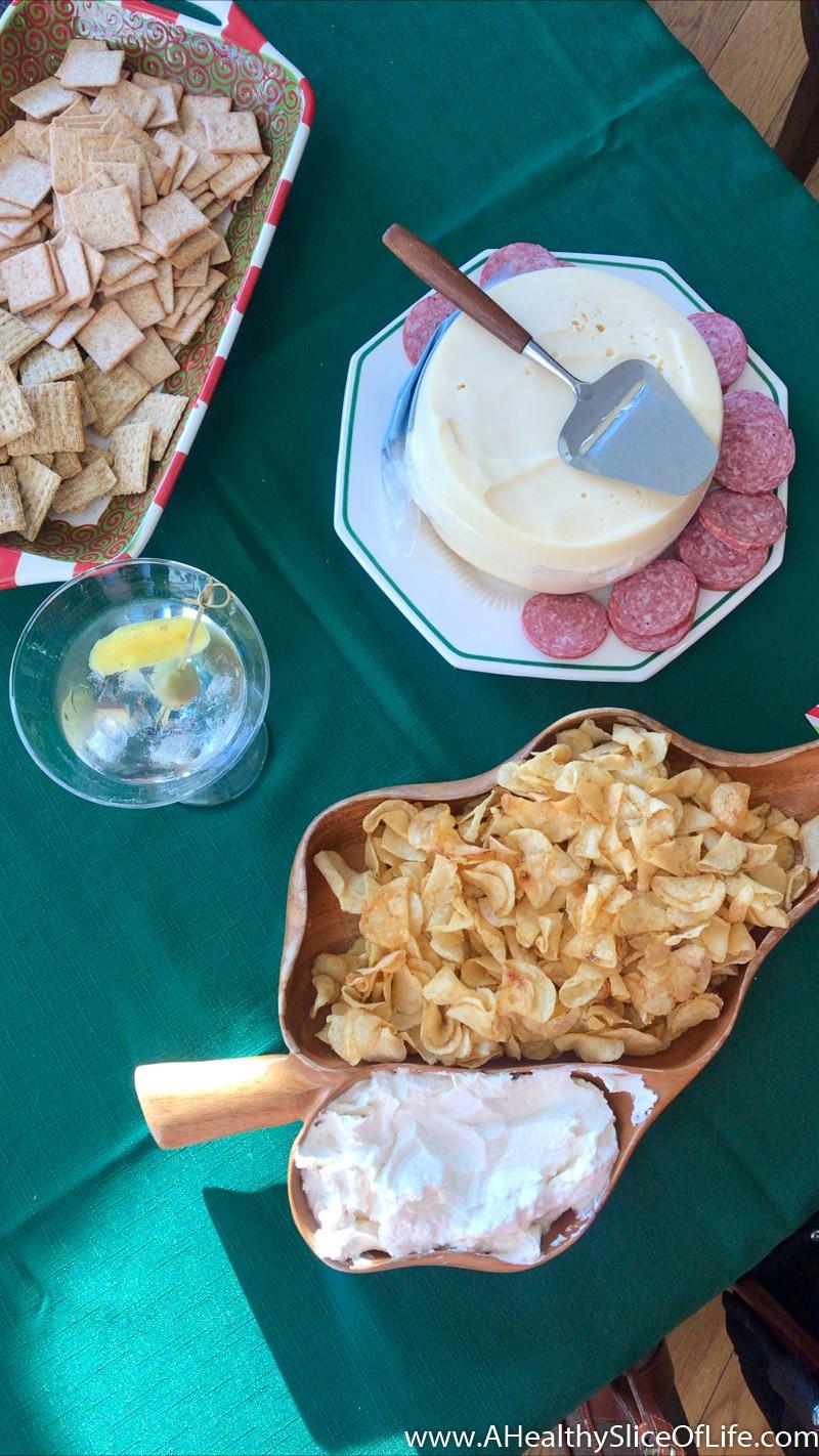 chips cheese martini