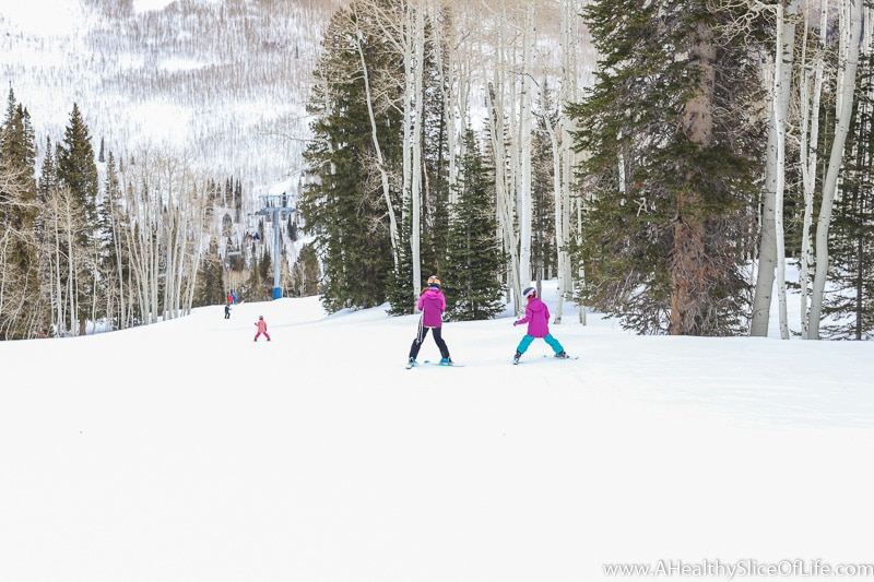 skiing Solitude mountain family