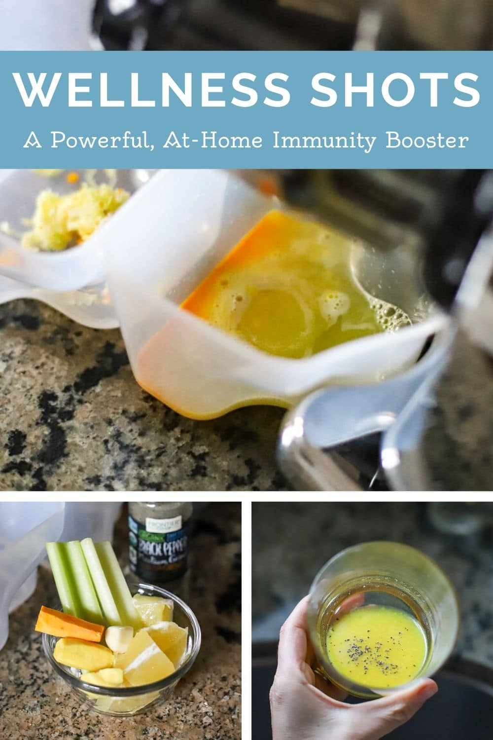 homemade wellness shot juicer
