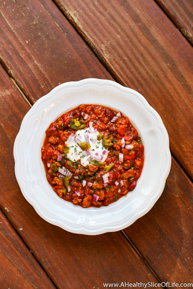 A Healthy Slice of Life - dinner- David's Famous Chili
