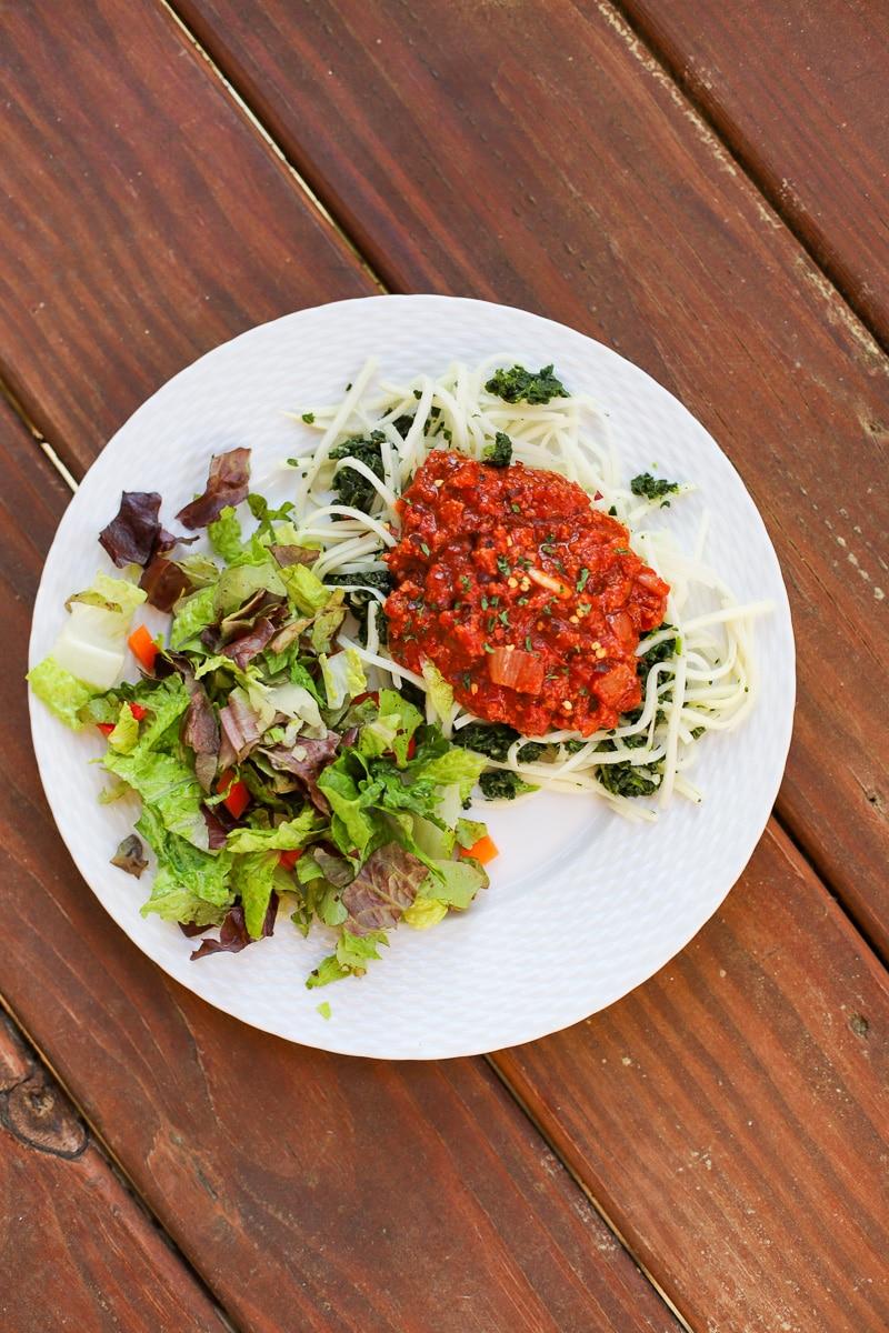 A Healthy Slice of Life - dinner - Mom spaghetti sauce