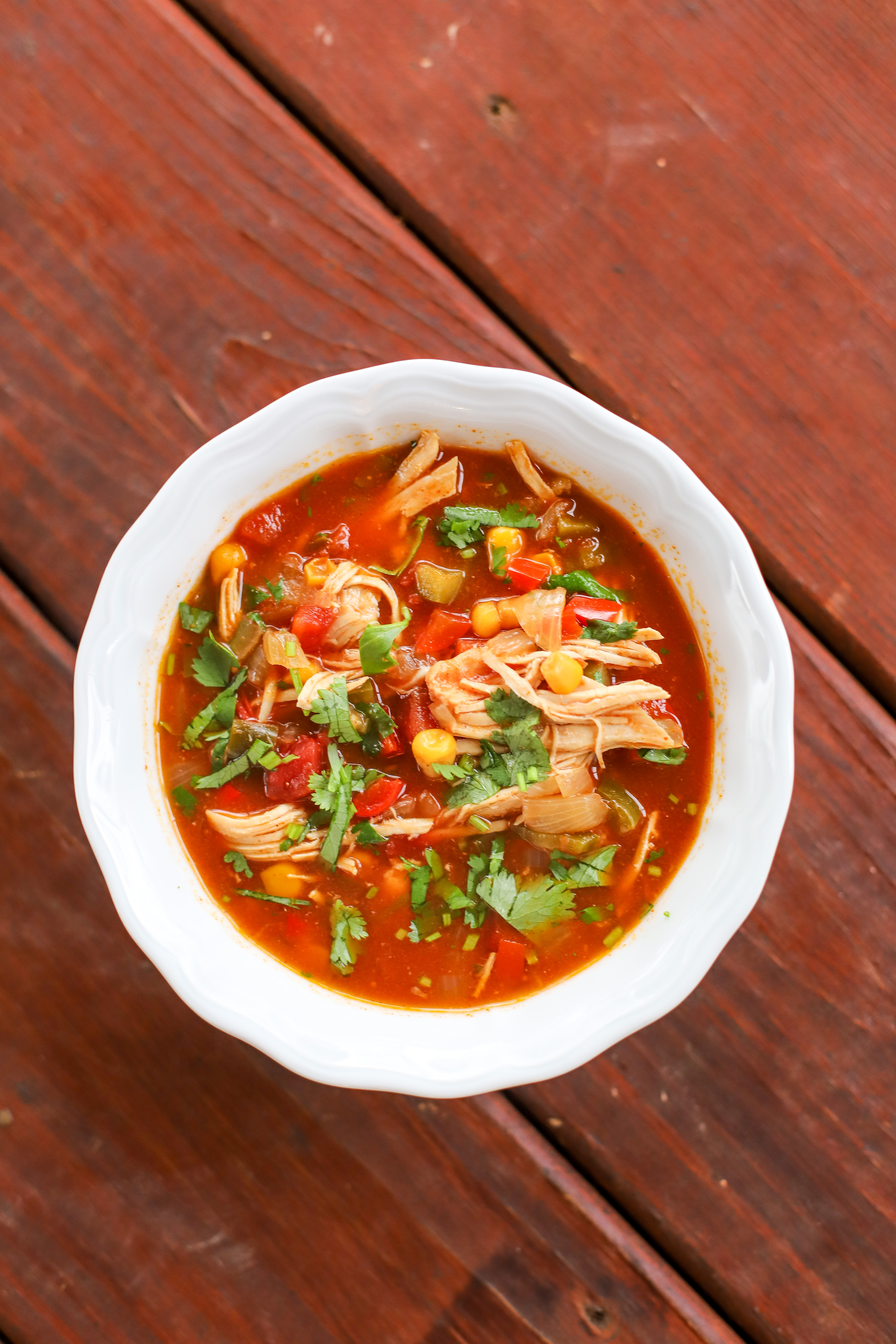 A Healthy Slice of Life - dinner - chicken tortilla soup