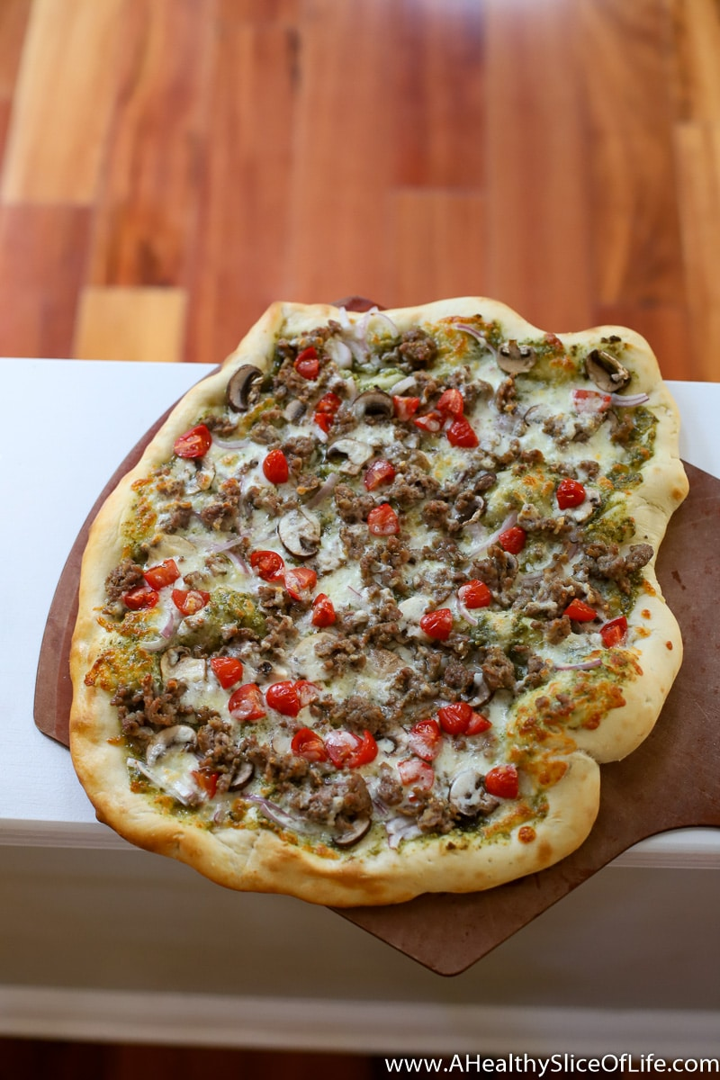 A Healthy Slice of Life - dinner -homemade pizza dough