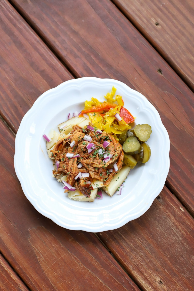 A Healthy Slice of Life - dinner - pulled pork potatoes