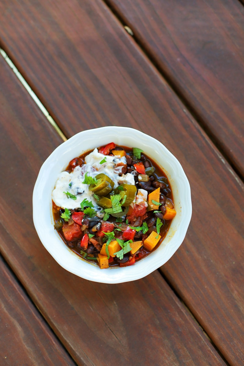 A Healthy Slice of Life - dinner -sweet potato and black bean chili