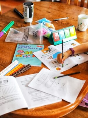 homeschool kitchen table