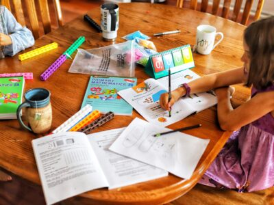 homeschool kitchen table