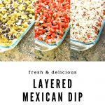layered Mexican dip recipe- a healthy slice of life