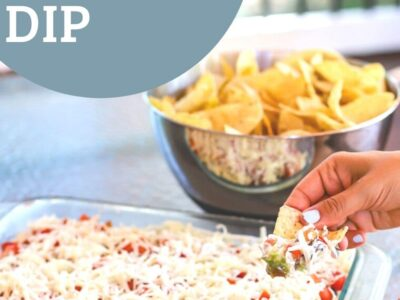 the best layered Mexican dip recipe- a healthy slice of life