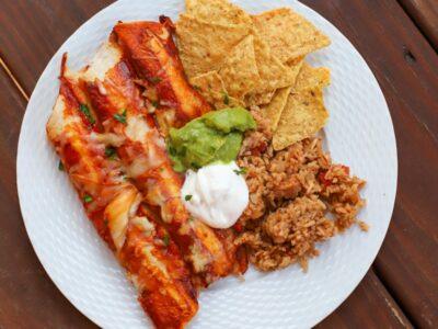 chicken enchiladas- a healthy slice of life