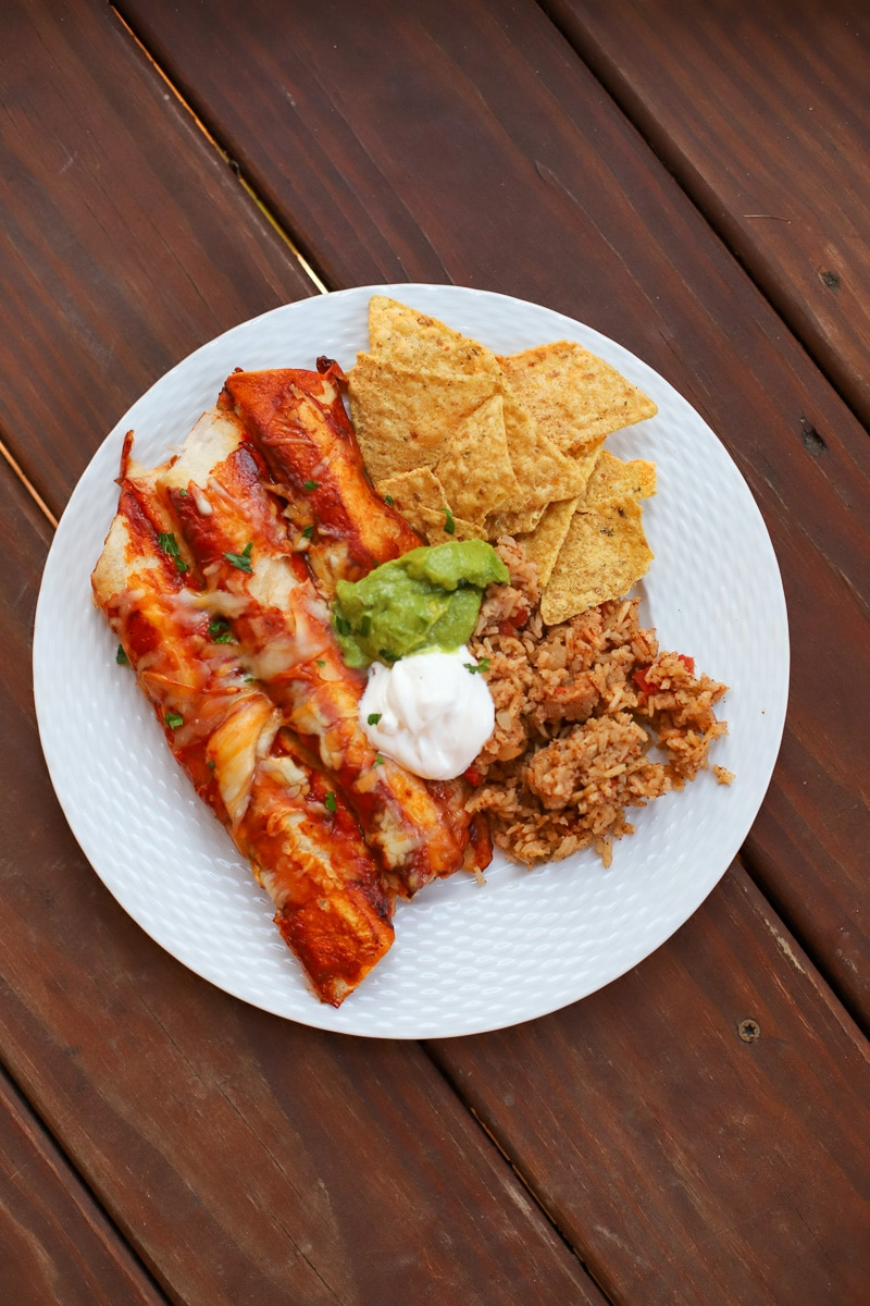 chicken enchiladas- a healthy slice of life