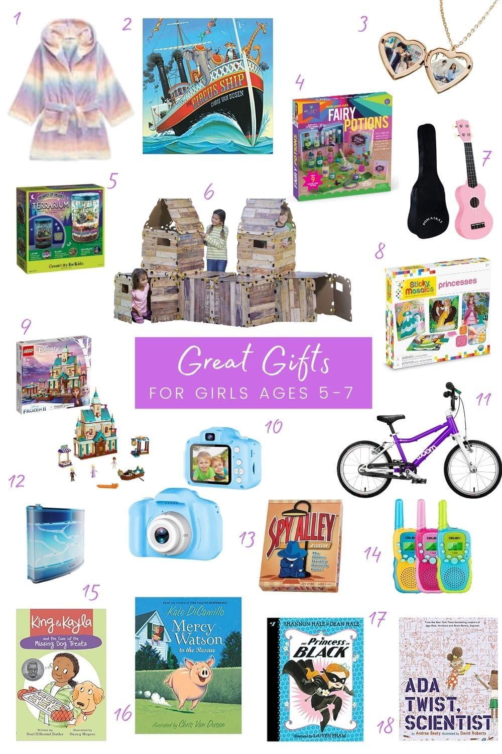 six year old girl gifts