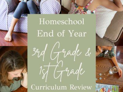third grade and first grade homeschool review
